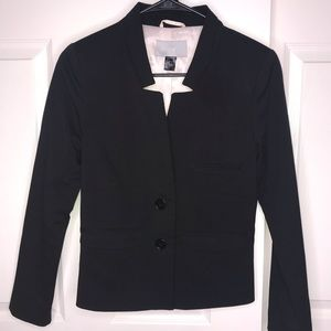 H&M Black Work Office Blazer size 6 Small/Medium